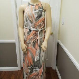 Dresses - Peach and Olive Maxi dress Plus size